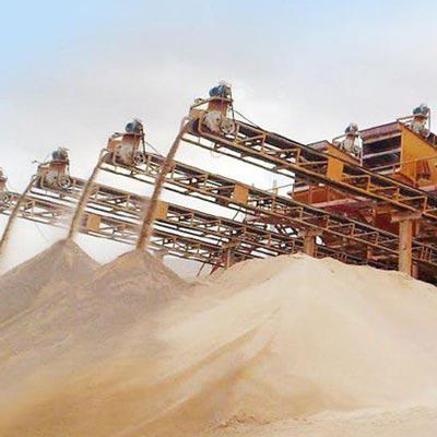 واحد تولید شن و ماسه ی شرکت صدرا کنار شیراز